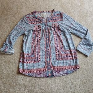 Style&co petites gently worn colorful blouse
